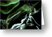 Illuminated Glass Greeting Cards - Shimmer Greeting Card by Barbara  White