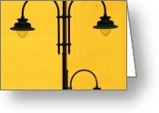 Featured Greeting Cards - Shine On.. #italy #lamppost Greeting Card by A Rey