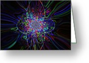 Signed Digital Art Greeting Cards - Shining Star Greeting Card by Katina Cote
