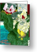 Storm Prints Greeting Cards - Shinto Storm God 1880 Greeting Card by Padre Art