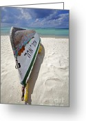 Ship-wreck Greeting Cards - Ship of the Caribbean  Greeting Card by David Letts