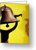 Featured Greeting Cards - Ships Bell Greeting Card by Rebecca Sherman