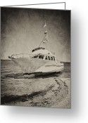 Melbourne Beach Greeting Cards - Shipwreck II Greeting Card by Cheryl Davis