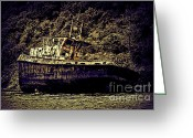 Shipwreck Greeting Cards - Shipwreck Greeting Card by Tom Prendergast