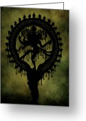 Zen Art Greeting Cards - Shiva Greeting Card by Cinema Photography