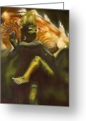 Goddess Posters Greeting Cards - Shiva Greeting Card by Roger Williamson