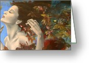 Emotions Greeting Cards - Shivers Greeting Card by Dorina  Costras