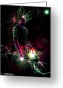 Thor Digital Art Greeting Cards - Shocking The Aether Greeting Card by Tim Odom