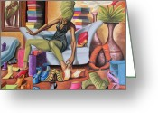 Couch Greeting Cards - Shoe Addict Greeting Card by Dion Pollard