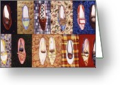 Grid Mixed Media Greeting Cards - Shoe Sampler Greeting Card by Karl Frey