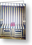 Shoes Greeting Cards - Shoes In A Beach Chair Greeting Card by Joana Kruse