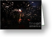 Pyrotechnics Greeting Cards - Shooting Greeting Card by Agusti Pardo Rossello
