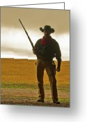 Cowboy Greeting Cards - Shootist Greeting Card by Ron  McGinnis