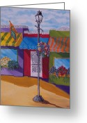 Store Fronts Greeting Cards - Shopping Greeting Card by Renee Schneider