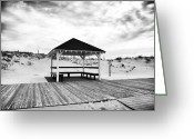 Winter Prints Greeting Cards - Shore Shelter Greeting Card by John Rizzuto