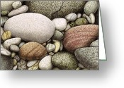 Waves Painting Greeting Cards - Shore Stones Greeting Card by JQ Licensing