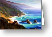 Crashing Waves Greeting Cards - Shore Trail Greeting Card by Frank Wilson