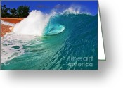 Surf Art Greeting Cards - Shorebreaker Greeting Card by Paul Topp