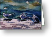 Julianne Felton Greeting Cards - Shoreline birds IV Greeting Card by Julianne Felton