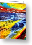 Representative Abstract Greeting Cards - Shoreline Greeting Card by David Raderstorf