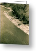 Mississippi County Greeting Cards - Shoreline Greeting Card by Helena M Langley