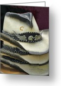 Cowboy Hats Greeting Cards - Short Stack Greeting Card by Kenny Francis