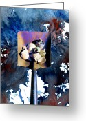 Shells Mixed Media Greeting Cards - Shovel With Shells No.1 Greeting Card by Paul Gaj