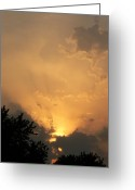 Sunset Greeting Cards Mixed Media Greeting Cards - Show Me The Way Greeting Card by Connie Dye