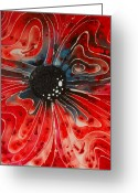 Floral Print Greeting Cards - Show Stopper Greeting Card by Sharon Cummings