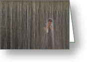 Gabor Pozsgai Greeting Cards - Shower Greeting Card by Gabor Pozsgai