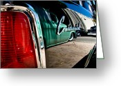 Fifties Buick Greeting Cards - ShowLow and Tribe in the Mirror Greeting Card by Michael Kerckaert
