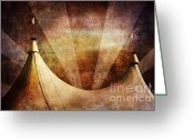 Tent Greeting Cards - Showtime Greeting Card by Andrew Paranavitana