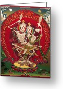 Thanka Greeting Cards - Shri Chittipati - Chokling Tersar Greeting Card by Sergey Noskov