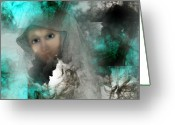 Meditative Greeting Cards - Shroud of Truth Greeting Card by Patricia Motley