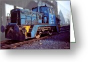 Johnny Trippick Greeting Cards - Shunting Loco Greeting Card by Johnny Trippick