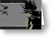 Seductive Photo Greeting Cards - Shuttered Glass Greeting Card by Irina  March