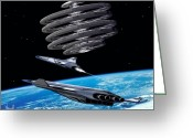 Astronomical Digital Art Greeting Cards - Shuttle Aerion-5 Greeting Card by Bill Wright