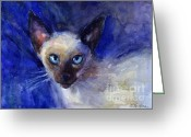 Poster From Greeting Cards - Siamese Cat  Greeting Card by Svetlana Novikova