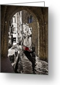 Gothic Arch Greeting Cards - Sicily Meets Venice Greeting Card by Madeline Ellis