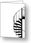 Staircase Greeting Cards - Side Entrance Greeting Card by Evelina Kremsdorf