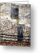 Entrance Door Greeting Cards - Side Entrance Greeting Card by John Rizzuto