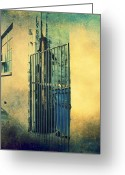 Pdx Art Greeting Cards - Side Gate Greeting Card by Cathie Tyler