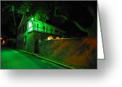 Florida Living Greeting Cards - Side Street Greeting Card by Peter  McIntosh