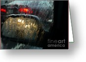 Traffic Greeting Cards - Side View Mirror 1 Greeting Card by Jeff Breiman
