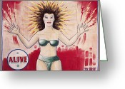 Bikini Greeting Cards - SIDESHOW POSTER, c1965 Greeting Card by Granger