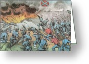 4th Greeting Cards - Siege And Capture Of Vicksburg, 1863 Greeting Card by Photo Researchers