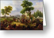 Encampment Greeting Cards - Siege of Paris by Henri IV Greeting Card by Guillaume Frederic Ronmy