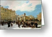 1871 Greeting Cards - Siege of Paris Greeting Card by Jacques Guiaud