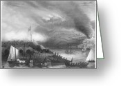 Peninsular Greeting Cards - Siege Of San Sebastian, 1813 Greeting Card by Granger