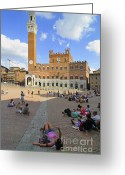 Lay Greeting Cards - Siena Italy - Piazza del Campo Greeting Card by Matthias Hauser